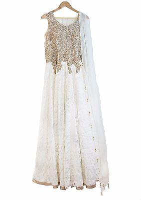 Indian Fusion Bridal Gown Wedding Dress Hand Stitched Unworn