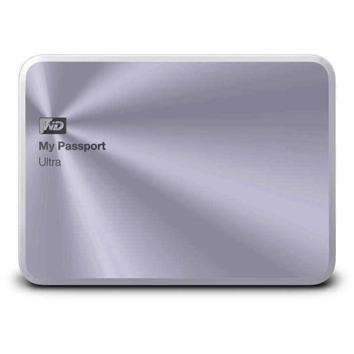 WD My Passport Ultra Metal Edition 1TB External USB 3.0 Hard Drive - Silver