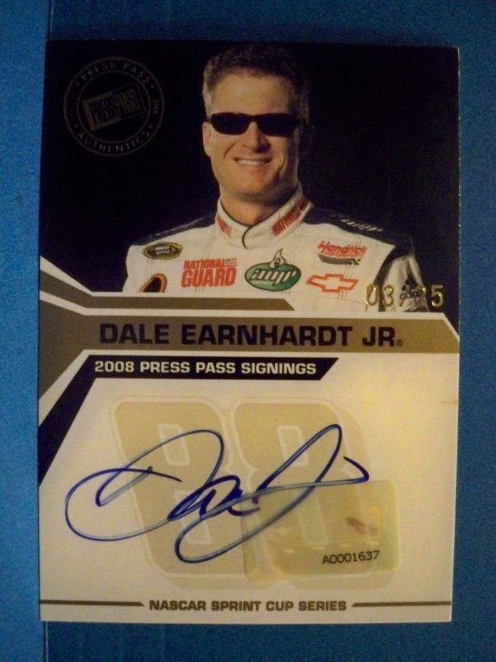 2008 Dale Earnhardt Jr. Press Pass Signings