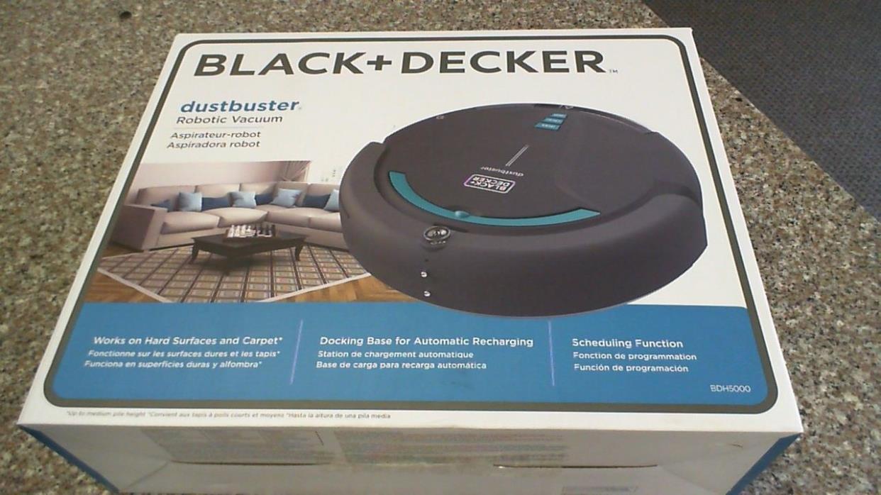 Black + Decker Dustbuster Robotic Vacuum BDH5000 *New*