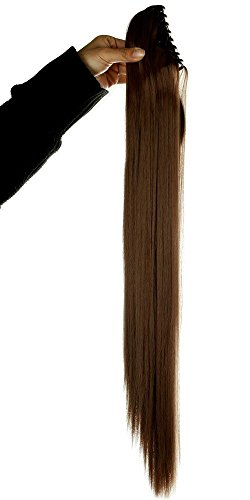 Synthetic Claw Ponytail Handy Jaw Pony Tail Clip in Hair Extensions One Piece