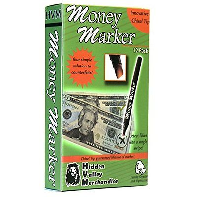 Money Marker --- Counterfeit Bill Detectors Counterfeit Bill Detector Pen with -