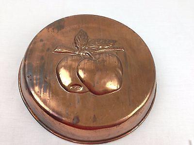Copper Apple Pan Jello Mold Decorative Vintage