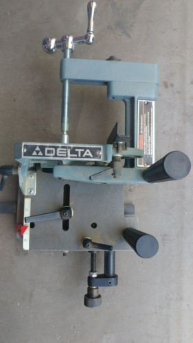 DELTA TENONING JIG TO CUT TENONS AND LAP JOINTS ON A TABLE SAW , BARELY ANY USE