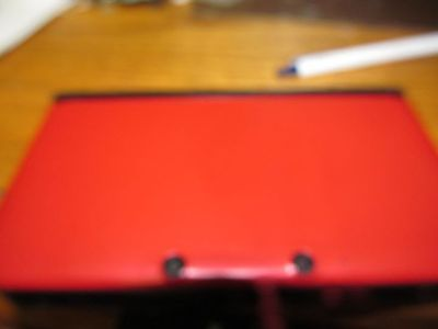 Nintendo 3DS XL Red Handheld System w/ 3 Mario games Kart 7 New Mario Bros +