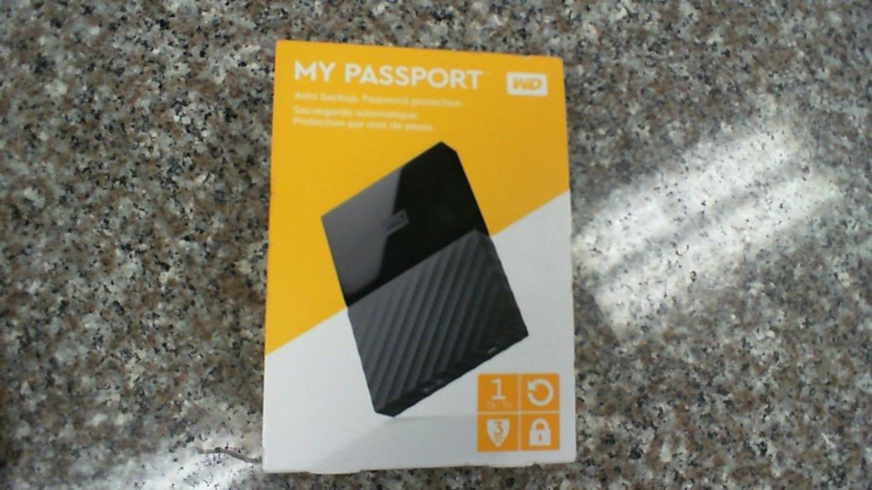 Western Digital My Passport  1TB USB 3.0 Portable External Hard Drive Black *NEW