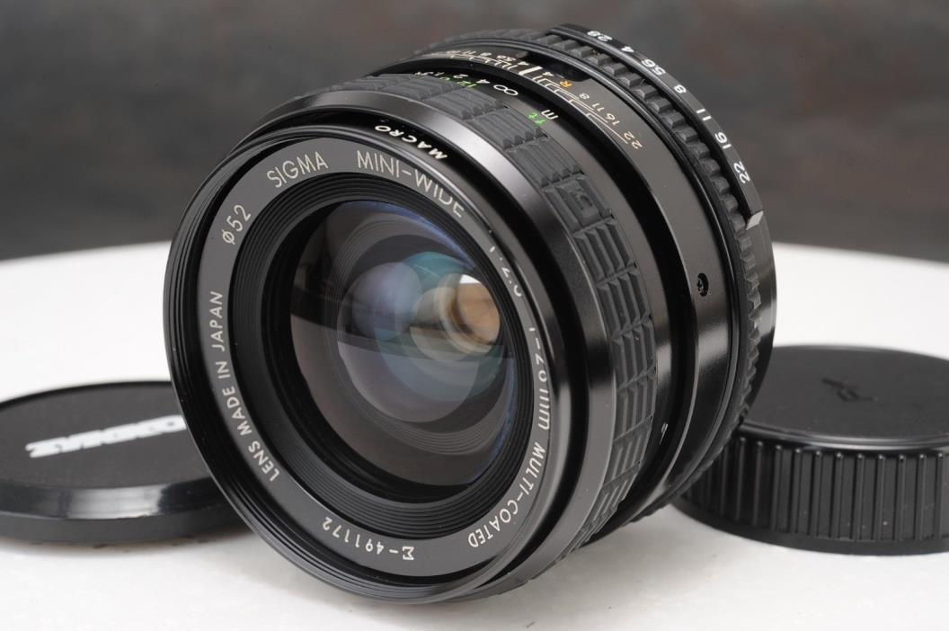:Sigma Mini-Wide 28mm F2.8 Manual Focus Prime Lens Pentax K PK Mount
