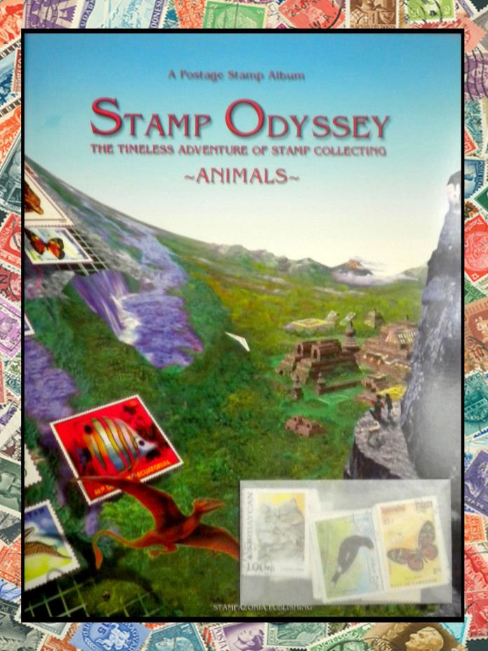 NEW. TOPICAL STAMP COLLECTING ALBUM. ANIMALS. FREE 50 STAMP PACKET