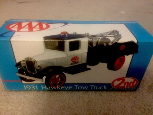 *Limited Edition* Ertl 1931 AAA Hawkeye Tow Truck # 20149P w Box 2nd In A Series