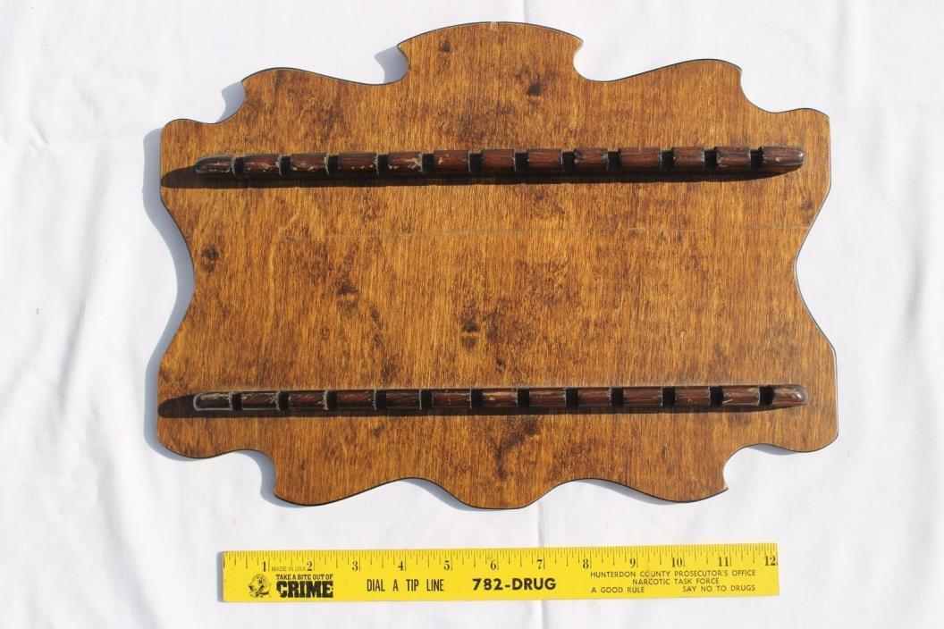 Wooden Souvenir Spoon Display Rack - Holds 24 Spoons