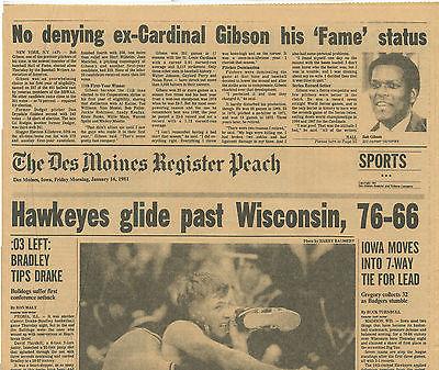 Iowa Oklahoma St Wrestling Iowa Wisconsin Basketball  Des Moines Register 1981