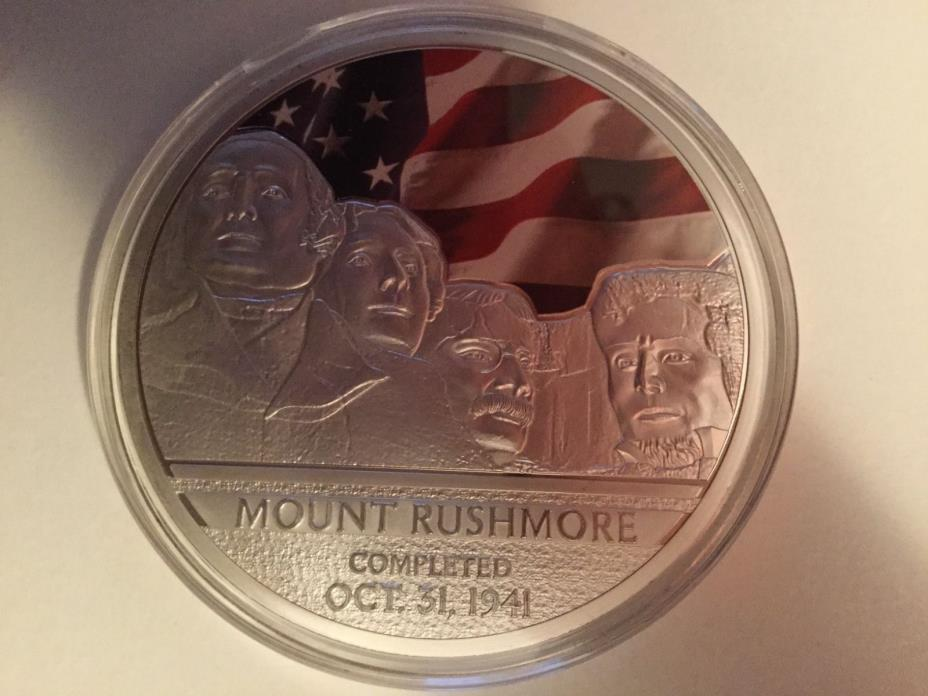 ROOSEVELT FACES OF MOUNT RUSHMORE JUMBO COMMEMORATIVE  COIN $129 retail. 40mm