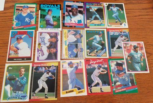 50 Kansas City Royals Baseball Cards, Bo Jackson, George Brett, Tabler, Conine