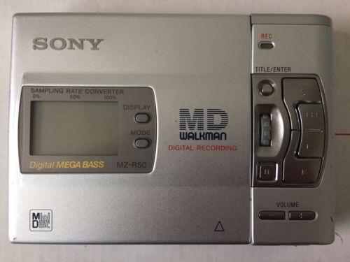 Sony MD MiniDisc MZ-R50 Walkman Portable Minidisc Recorder Digital Recording