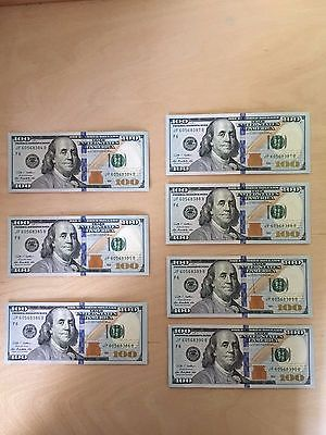 Consecutive 100 Dollar Bills