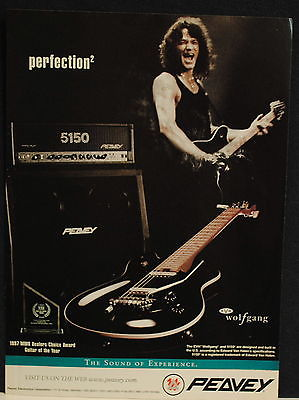 1998 Peavey Edward Van Halen EVH Wolfgang guitar print ad
