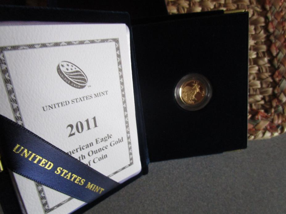 2011 GOLD PROOF  1/10TH OUNCE  american eagle  / OGP / LOOK CLOSE . NICE COIN !