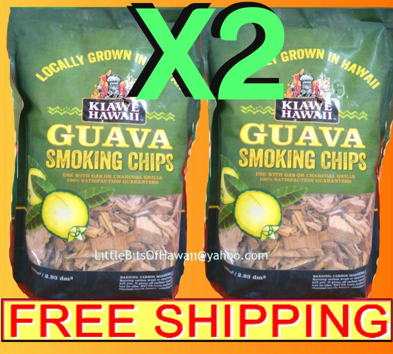 TROPICAL HAWAIIAN GUAVA SMOKING WOOD CHIPS X2 = 3 LBS - FREE SHIP KIAWE HAWAII