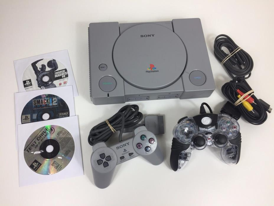 Original sony playstation console with extras for sale classifieds - Playstation one console for sale ...