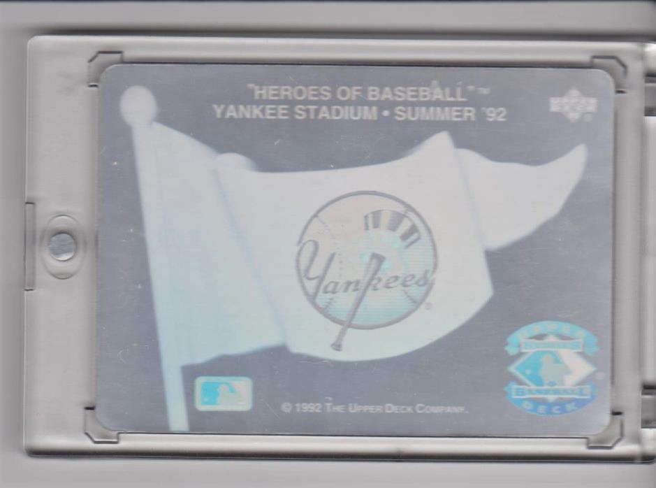 Heroes of Baseball YANKEE STADIUM Summer 92 Plus 25 Yankee Cards