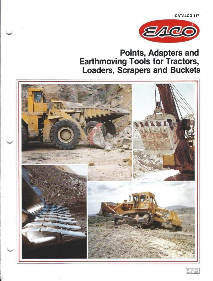 Equipment Brochure ESCO Points Adapters Tools for Buckets et al 12 item (E3620)