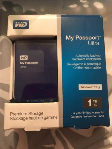 (New)(Please Read)WD WESTERN DIGITAL MY PASSPORT ULTRA 1TB EXTERNAL HARD DRIVE