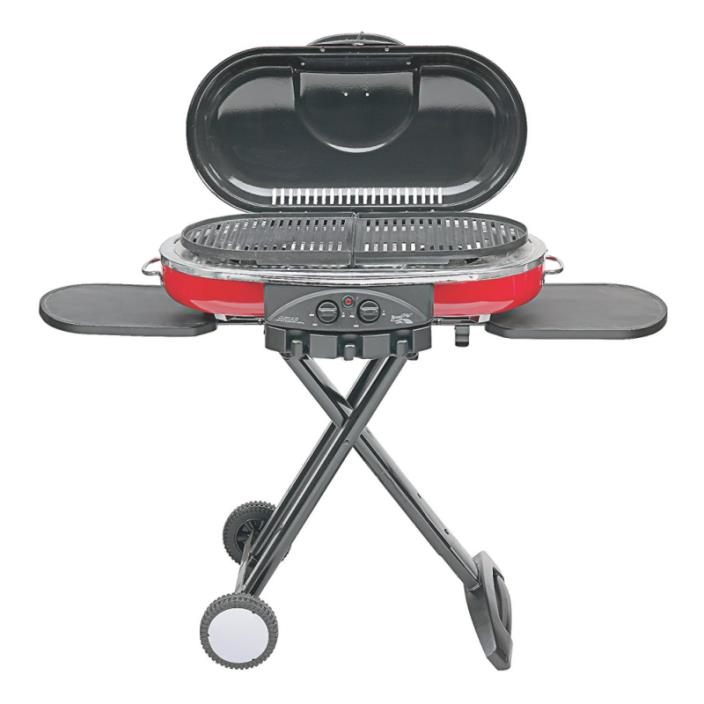 Propane Portable Grill Coleman Road Trip Cast-Iron Grilling Surfaces InstaStart
