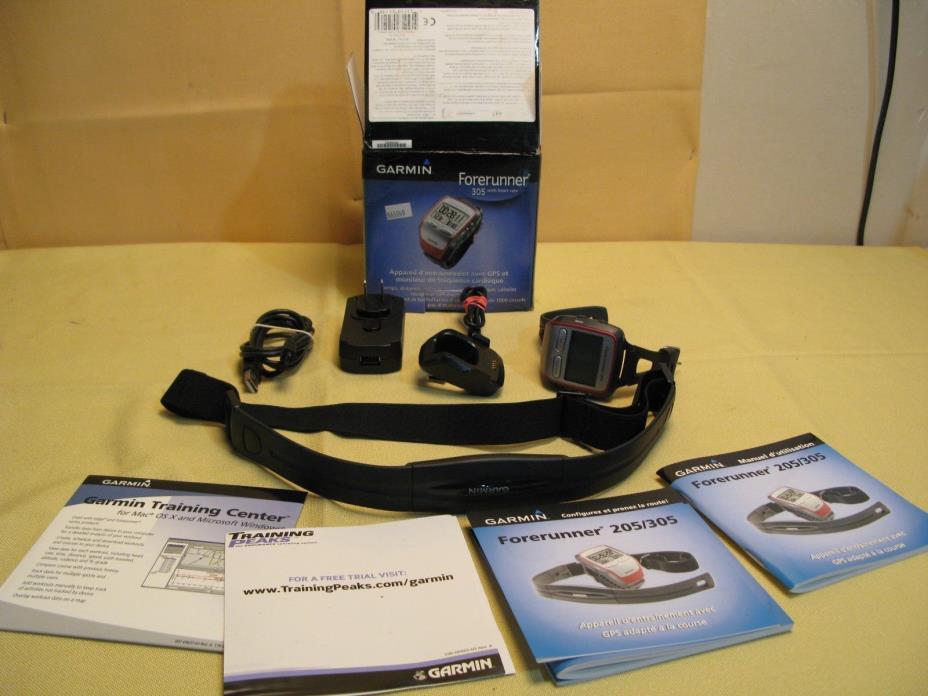 Garmin Forerunner 305 GPS-Enabled Trainer w/Heart Rate Monitor Multi-Sport