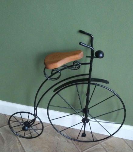Vintage High Wheel Bicycle Home Decor Rustic Primitive Lawn Art Ornament