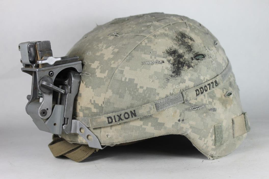 US Army ACH Helmet Patched Iron Brigade 3rd Armored BCT Used in Iraq Untouched