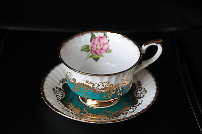 Fancy Paragon White Blue & Gold Cup & Saucer