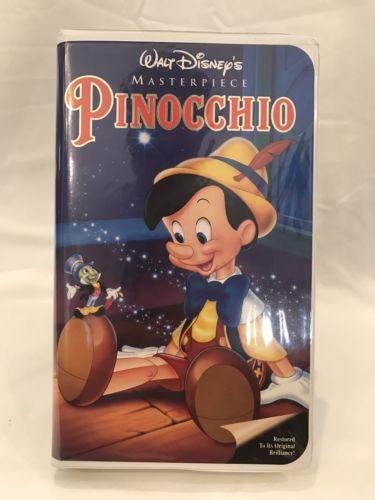 Walt Disney Home Video PINOCCHIO Masterpiece VHS clamshell case 239 Movie