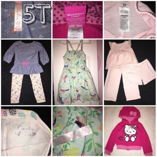 5T Lot Of Girls Clothing, Dress, Pajamas, Outfit, Sweater