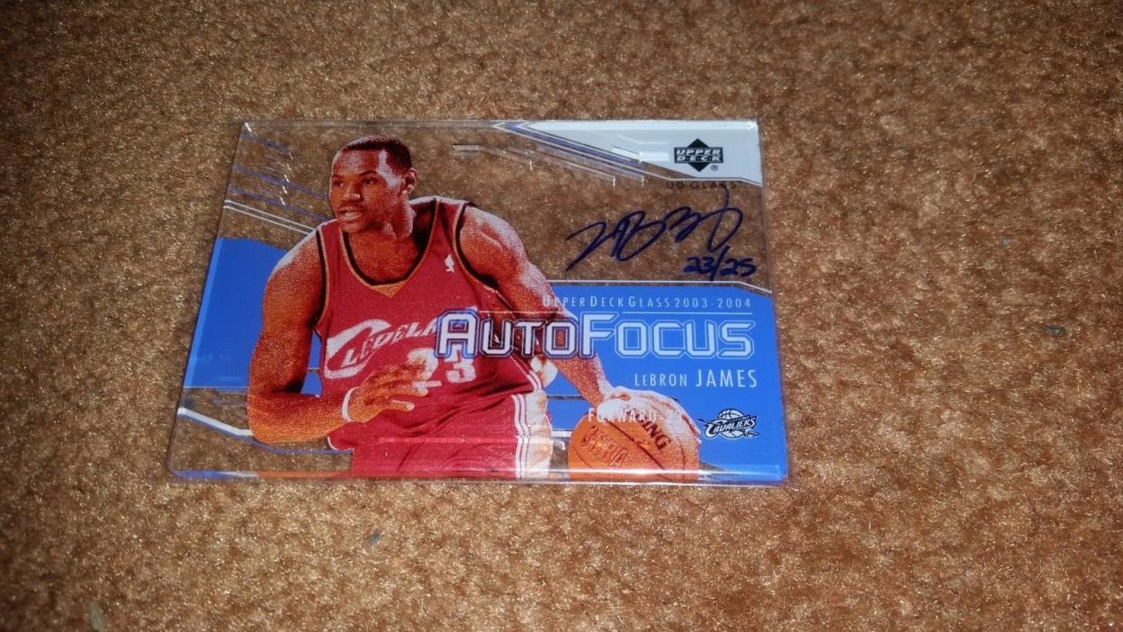 LeBron James 2003 04 Upper Deck UD glass Autofocus Crystal 23/25