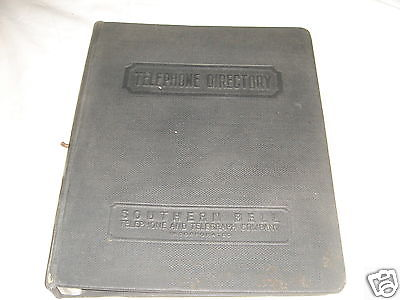 Vintage SOUTHERN BELL TELEPHONE DIRECTORY Phone Booth Hanging Book Cover