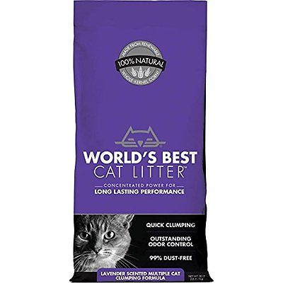 WORLDS BEST CAT LITTER 391038 Multiple Cat Scented Clumping Formula, 28-Pound