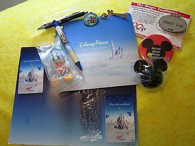 Disney lot of  pins, mousepad, pens, bag tags, etc