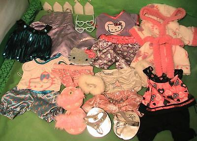 Build a Bear Clothing & Accessories Lot PJ's Robe, Dresses, Hello Kitty, ETC.