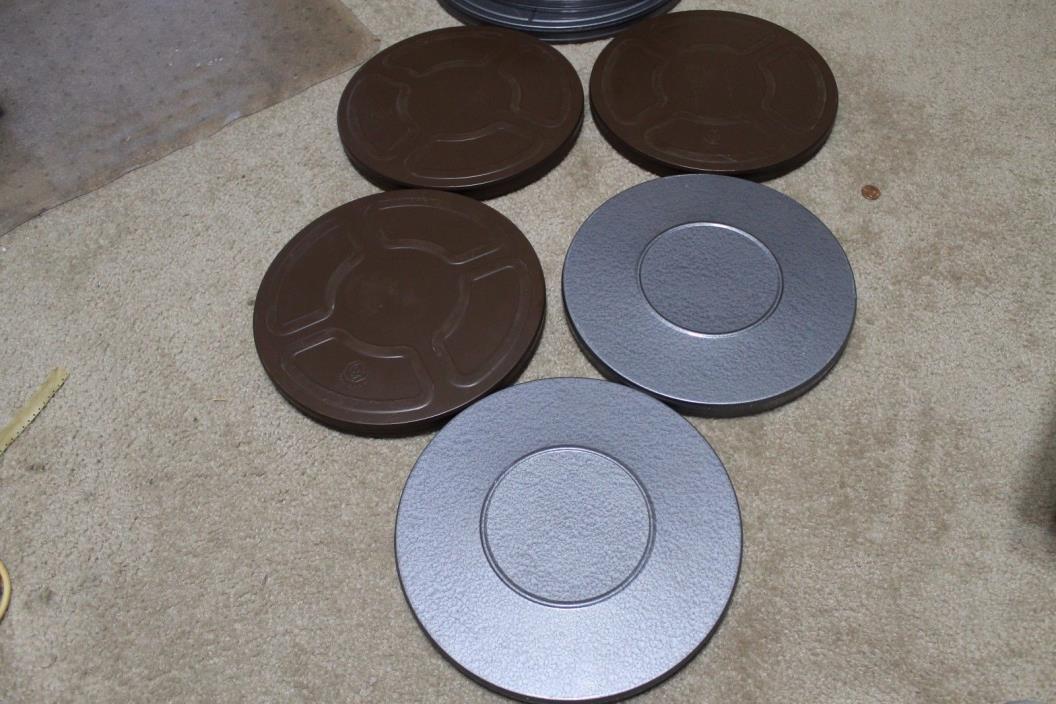 Lot of 3-16mm 800ft Goldberg Heavy Duty Metal Film Reels-2-16mm Compco Reels