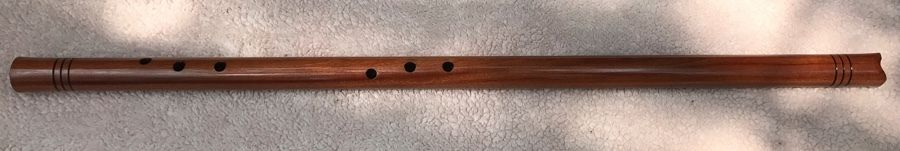 Geoffrey Ellis Pueblo/Anasazi Flute Crafted from Bubinga Wood in the Key of G#