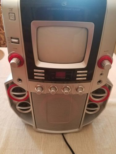 Karaoke System CD+G Home Party Machine with Two Microphones GPX JM250 Tested