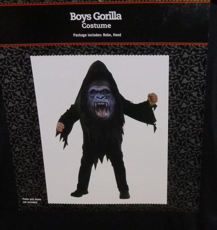 Youth Boy or Girl Costume - GORILLA Robe and Hood Costume Sz Large (10-12) NEW