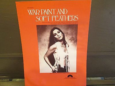 Sheet Music     Cher   War Paint And Soft Feathers