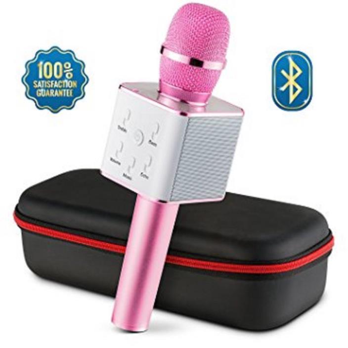 Bluetooth Wireless Microphone Karaoke Mic Amplifier Machine
