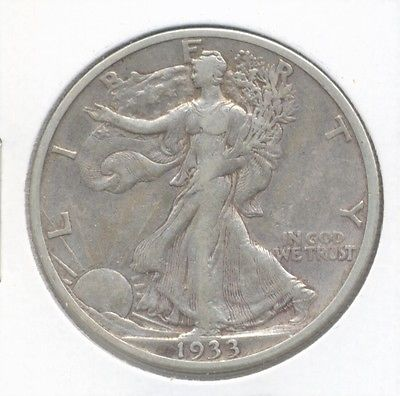 1933-s Walking Liberty Half Dollar - Very Fine PLUS