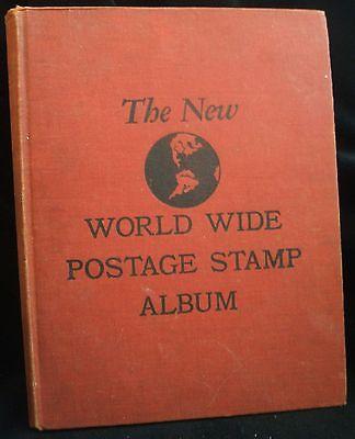 Vintage 1958 Minkus The New World Wide Postage Stamp Album Binder Book