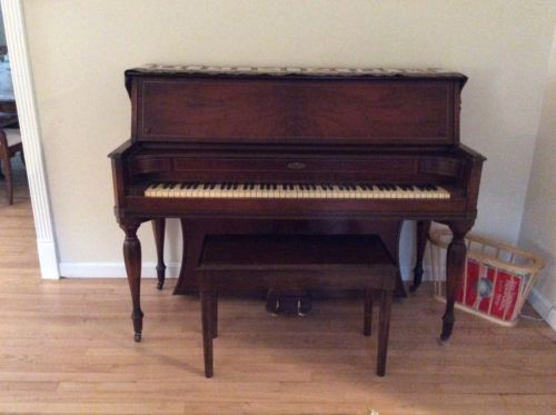 Winter Upright Piano And Bench
