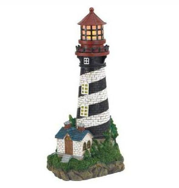 Solar Lighthouse Garden Lamp Sun Powered 8 Hours Shine Outdoor Display Flowers