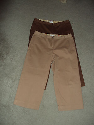 TOMMY BAHAMA PANTS SIZE10 LOT OF 2 CROPPED CAPRI STRETCH COTTON & LYCRA EUC