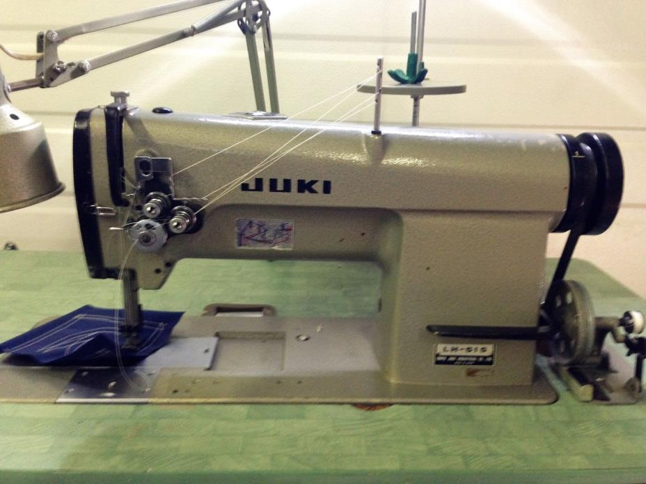JUKI LH-515  1/4  TWO NEEDLE FEED COMPLETE UNIT  220V  INDUSTRIAL SEWING MACHINE